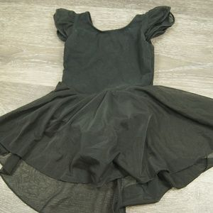 Other - Toddler Black Ballet Flutter Sleeve Skirt Leotard